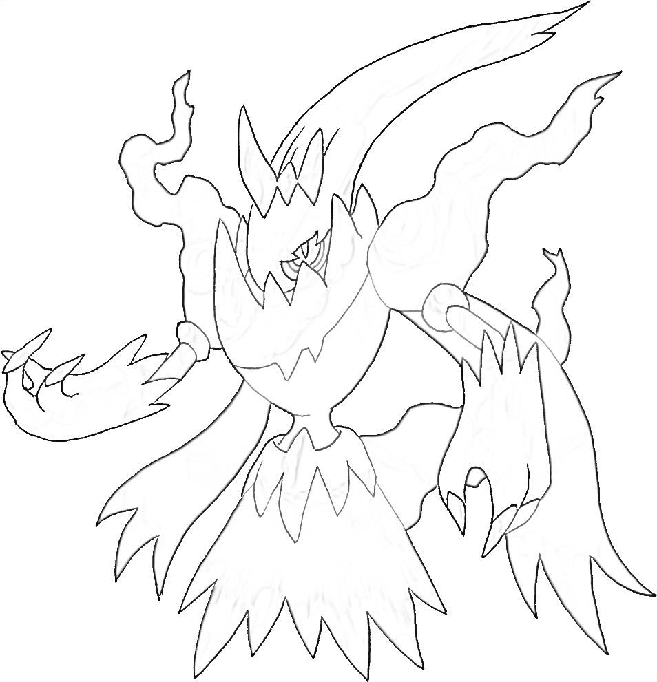 Pokemon Darkrai 3 coloring page