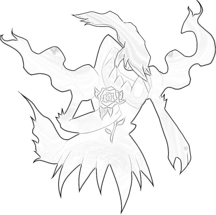 Pokemon Darkrai 4 coloring page