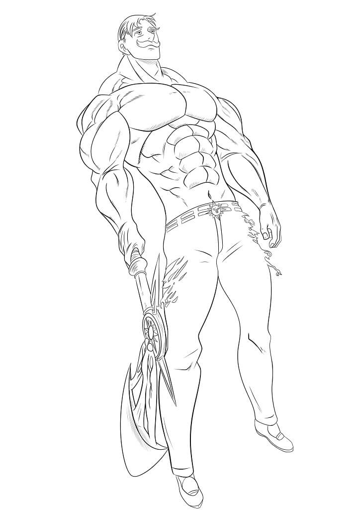 escanor and his weapon