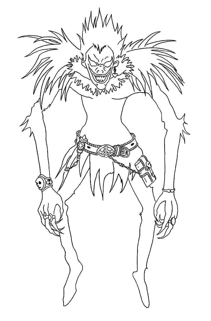 Printable Ryuk Coloring Pages