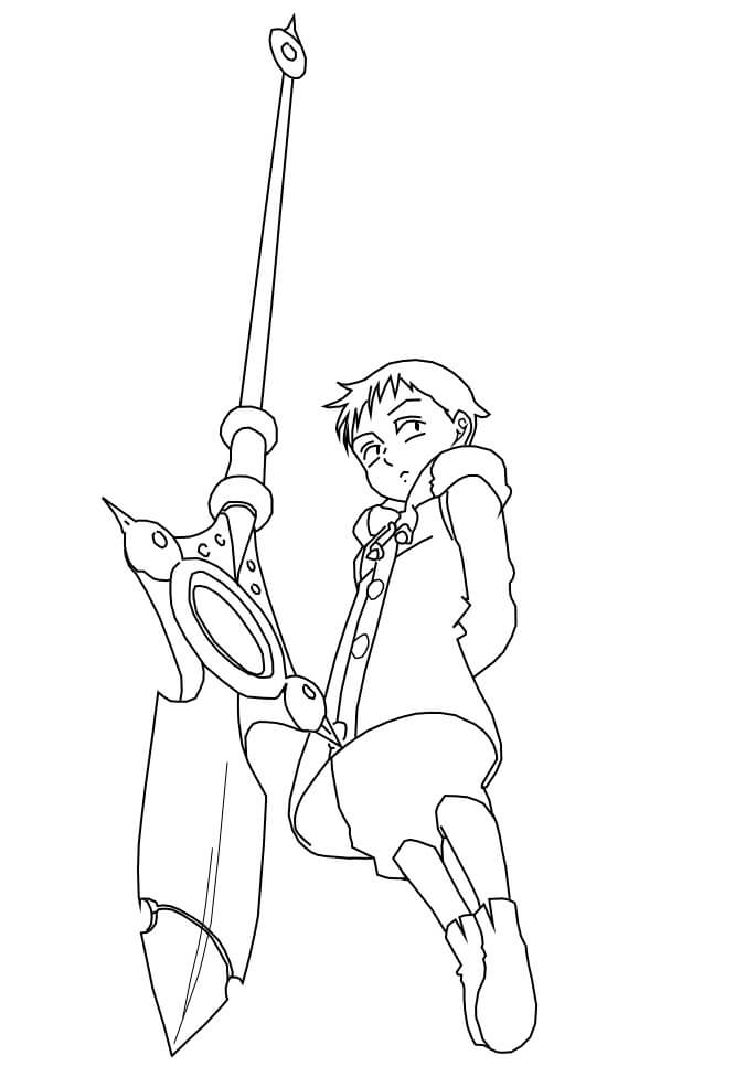 king using weapon