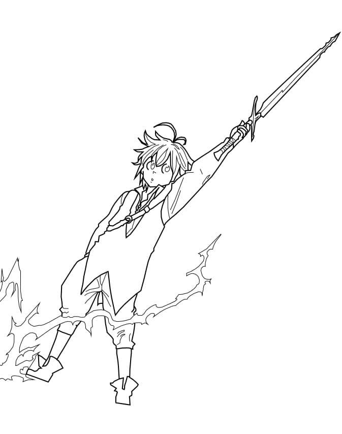 meliodas and sword