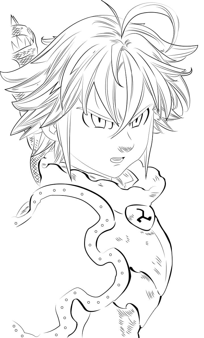 meliodas is angry
