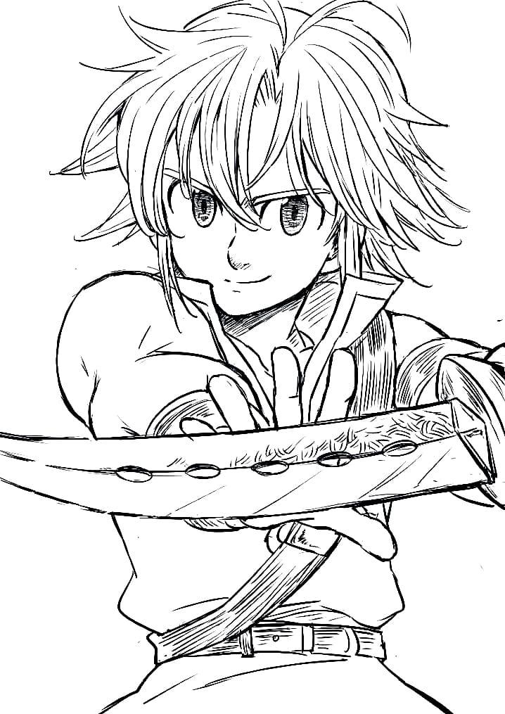 meliodas with sword