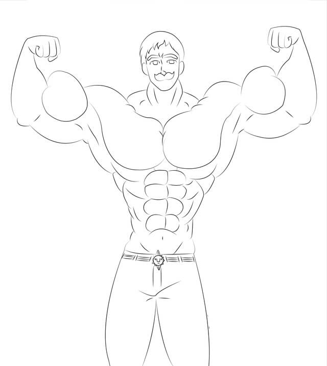 muscle escanor