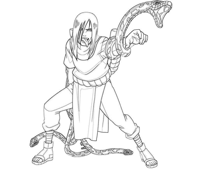 orochimaru and snakes