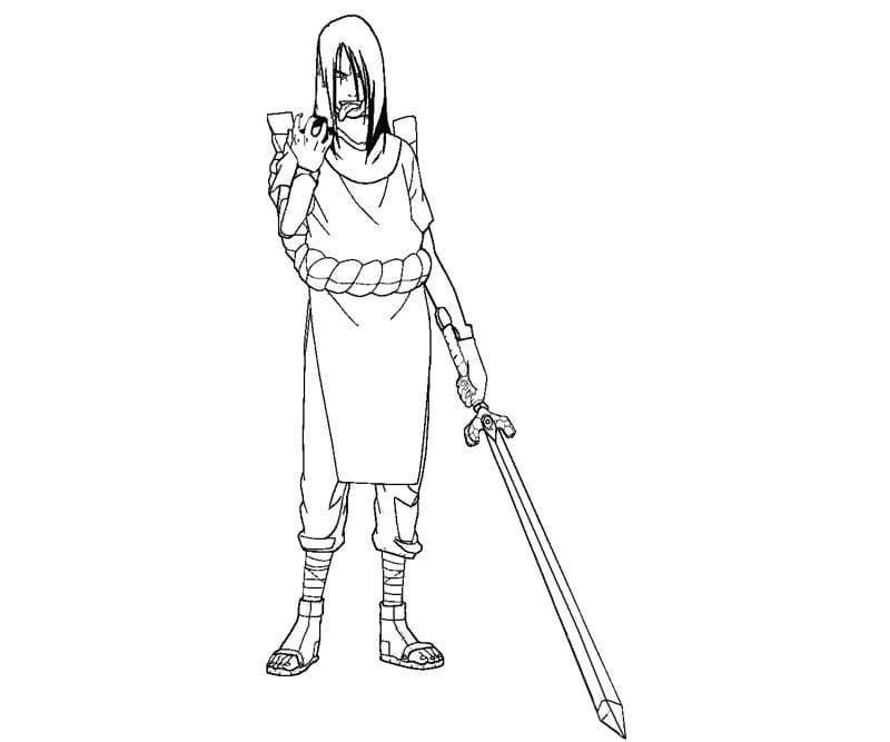 orochimaru holding sword