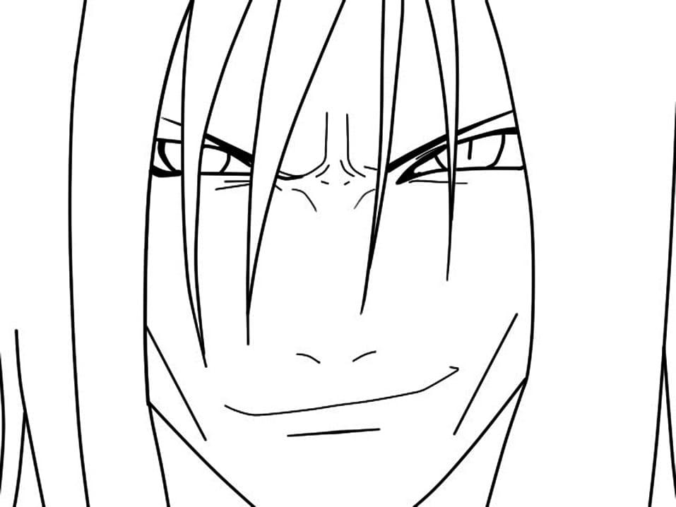 orochimaru is smiling