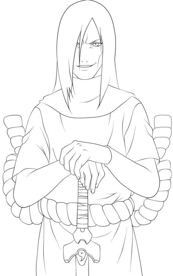 orochimaru with sword