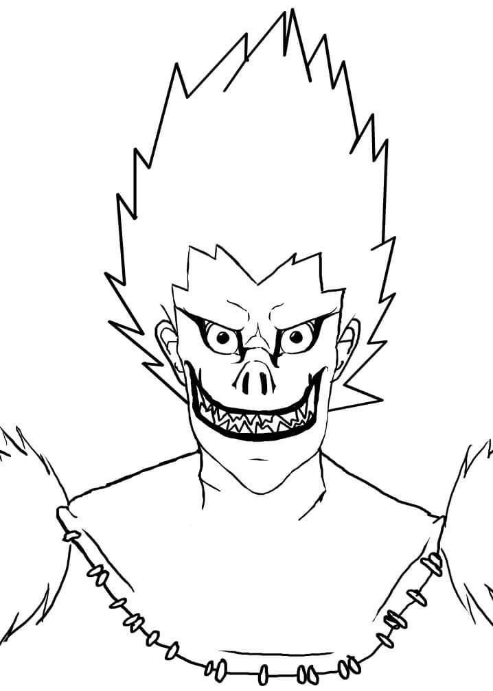 ryuk is smiling