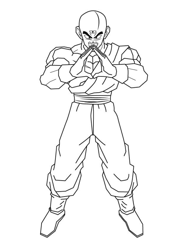 Printable Tien Shinhan Coloring Pages