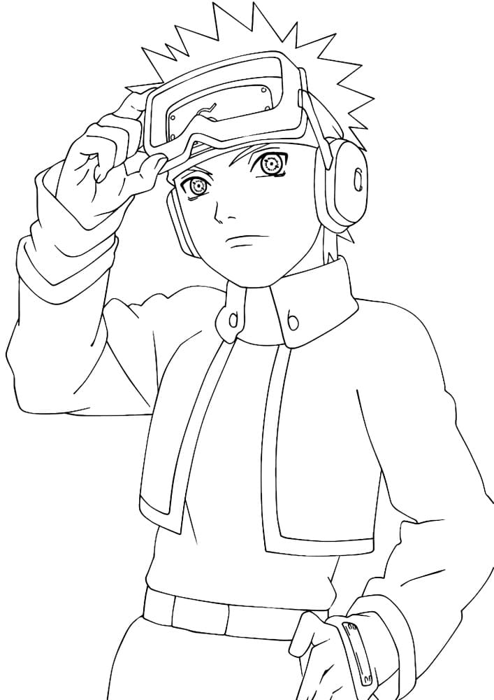Printable Uchiha Obito Coloring Pages