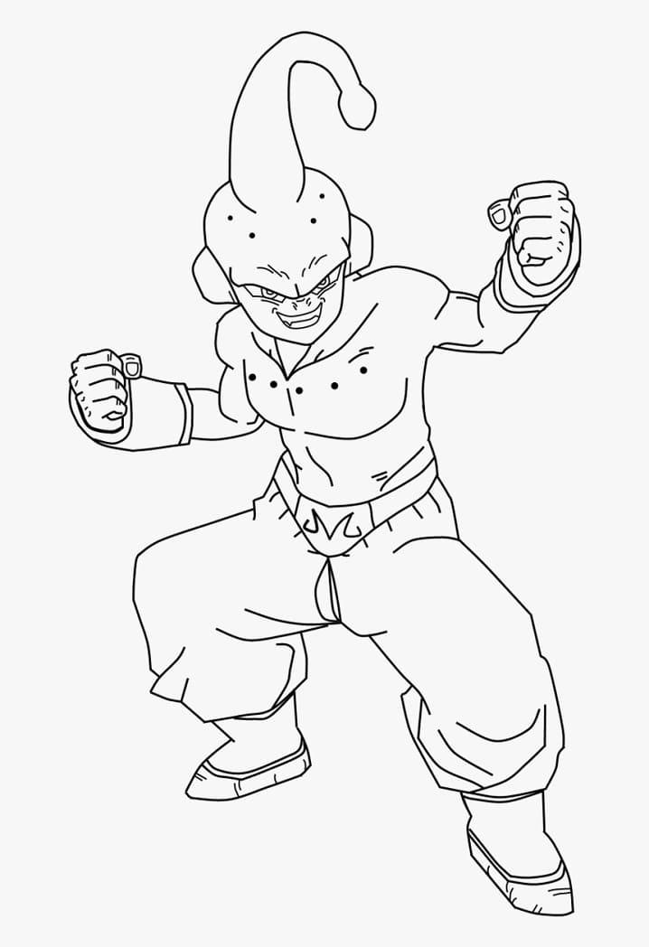 evil majin buu from dragon ball
