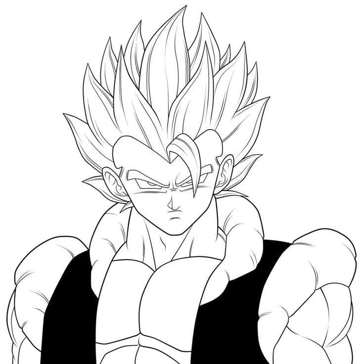 Printable Gogeta Coloring Pages