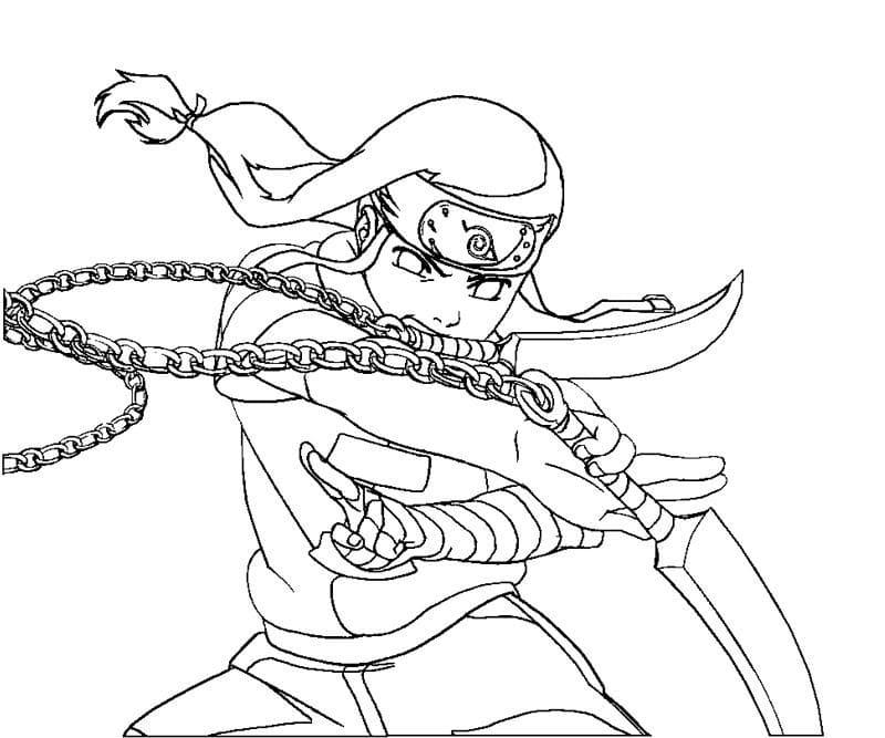 hyuga neji using weapon