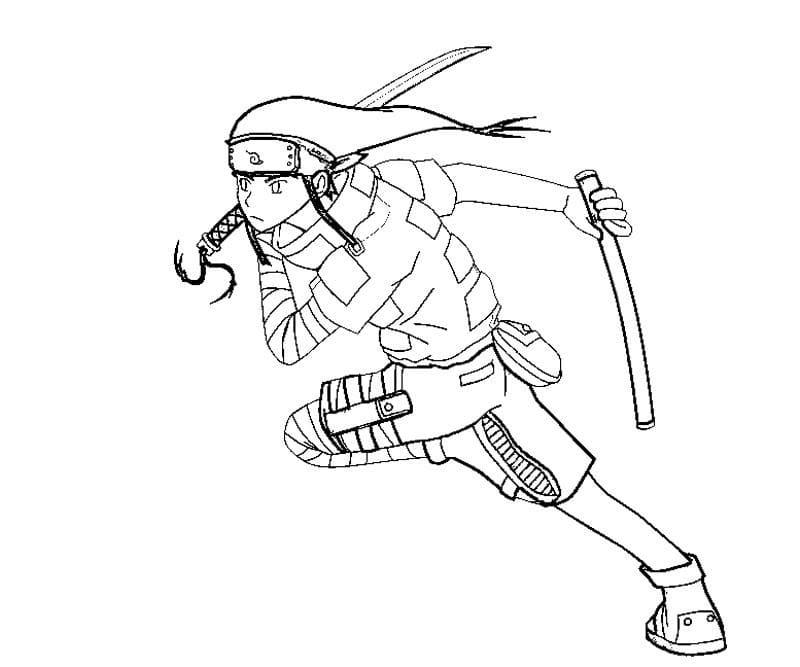 neji using weapons