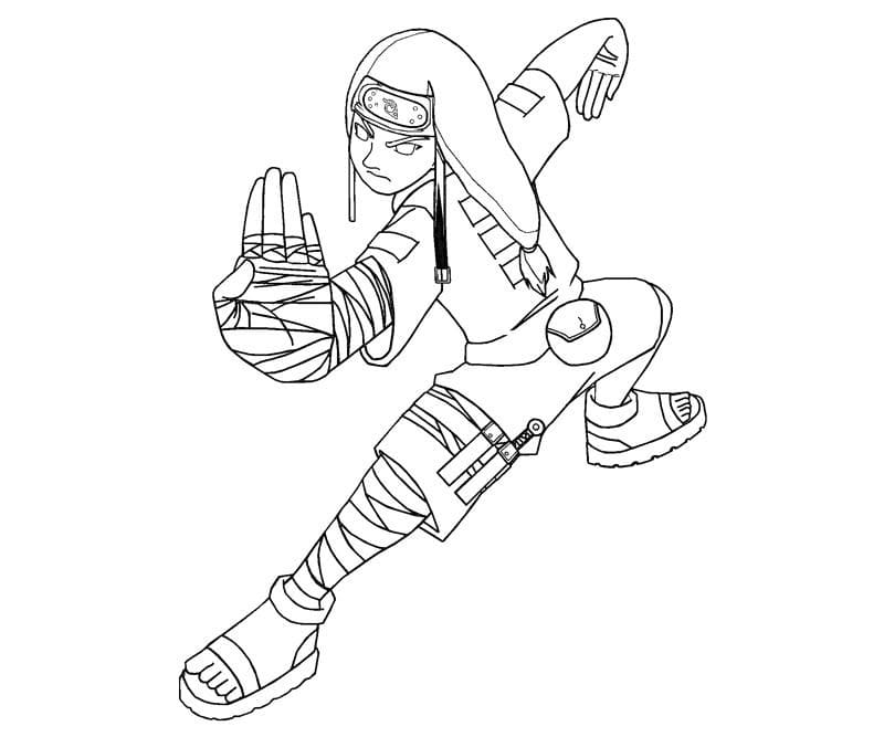 neji's fighting pose