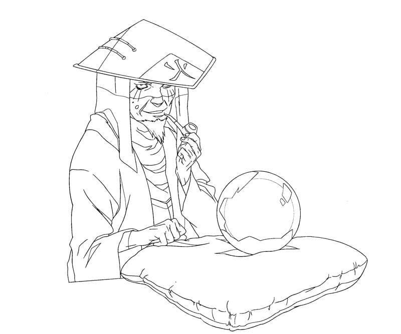 sarutobi hiruzen and crystal ball