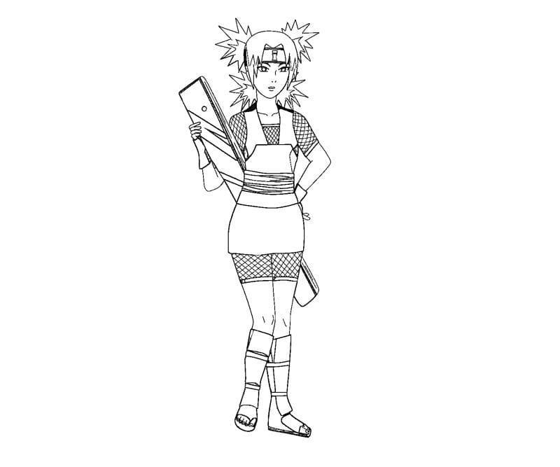 temari and her weapon