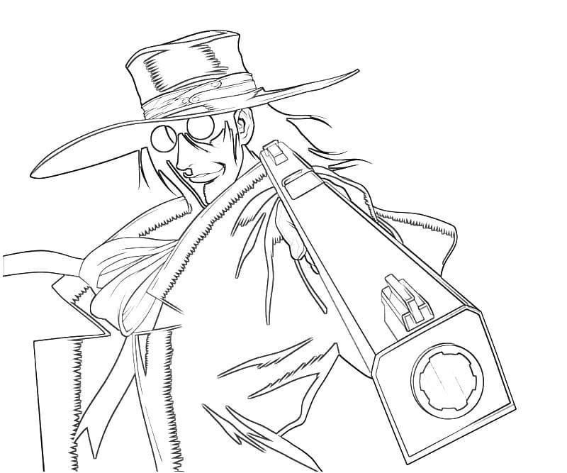 alucard with his gun