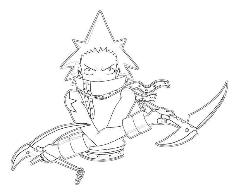 black star with his weapon