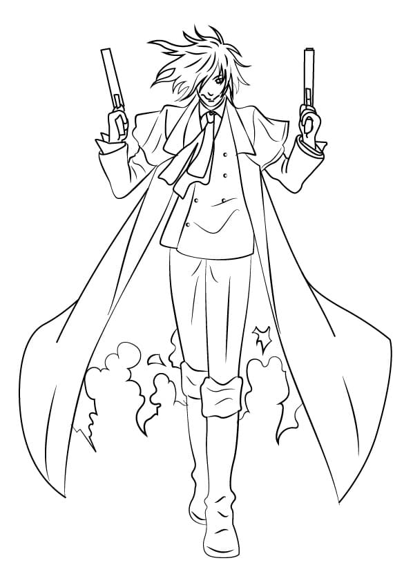 Printable Alucard Coloring Pages