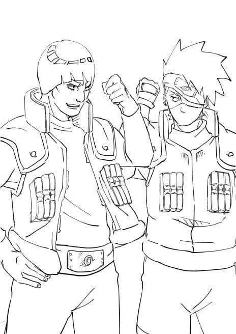 might guy and kakashi