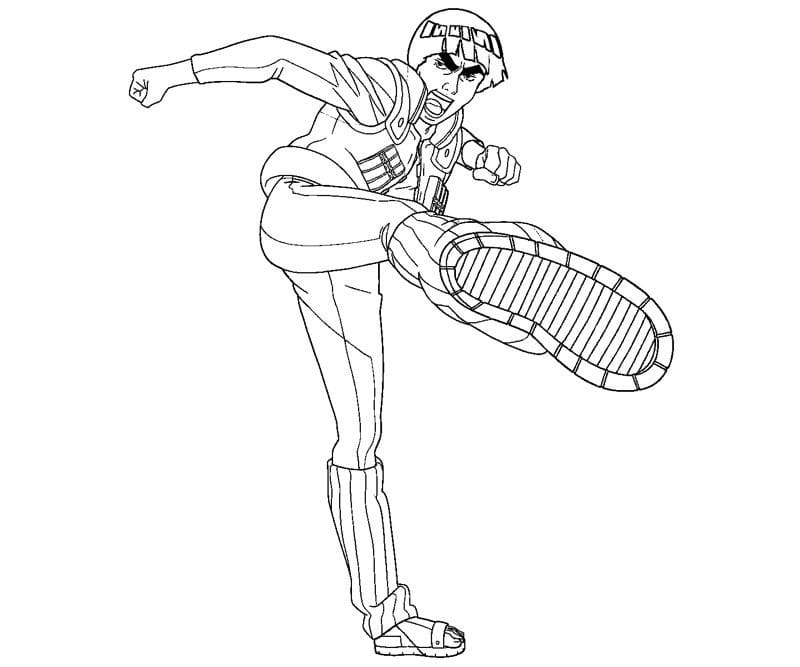 Printable Might Guy Coloring Pages