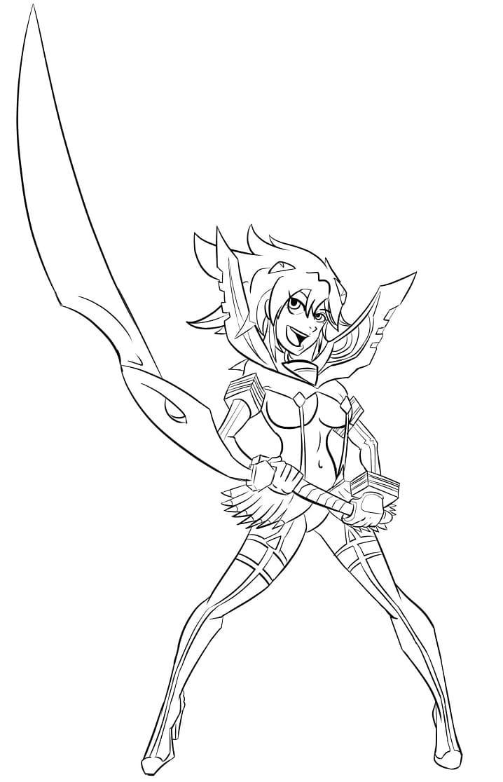 ryuko matoi with weapon