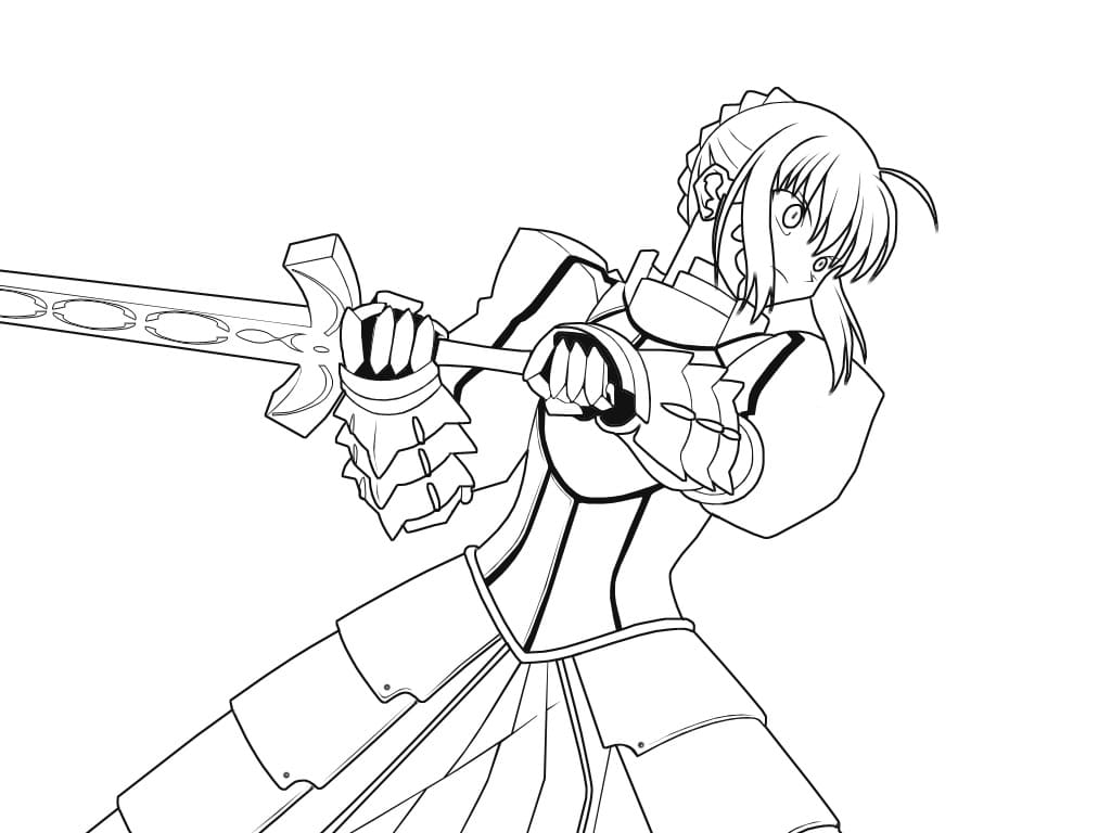 Printable Saber Coloring Pages