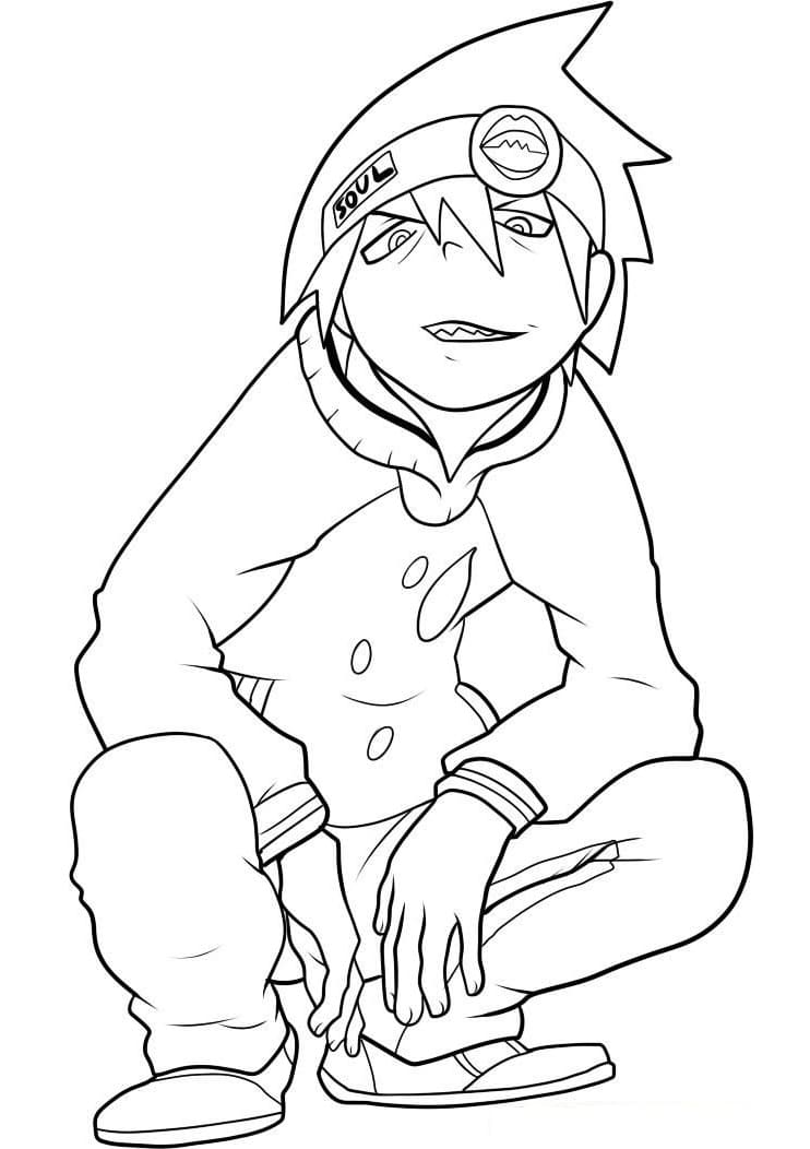 Printable Soul Evans Coloring Pages