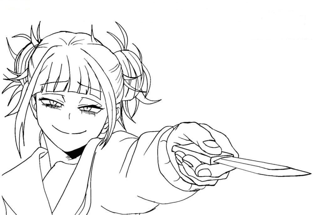 toga himiko holding knife