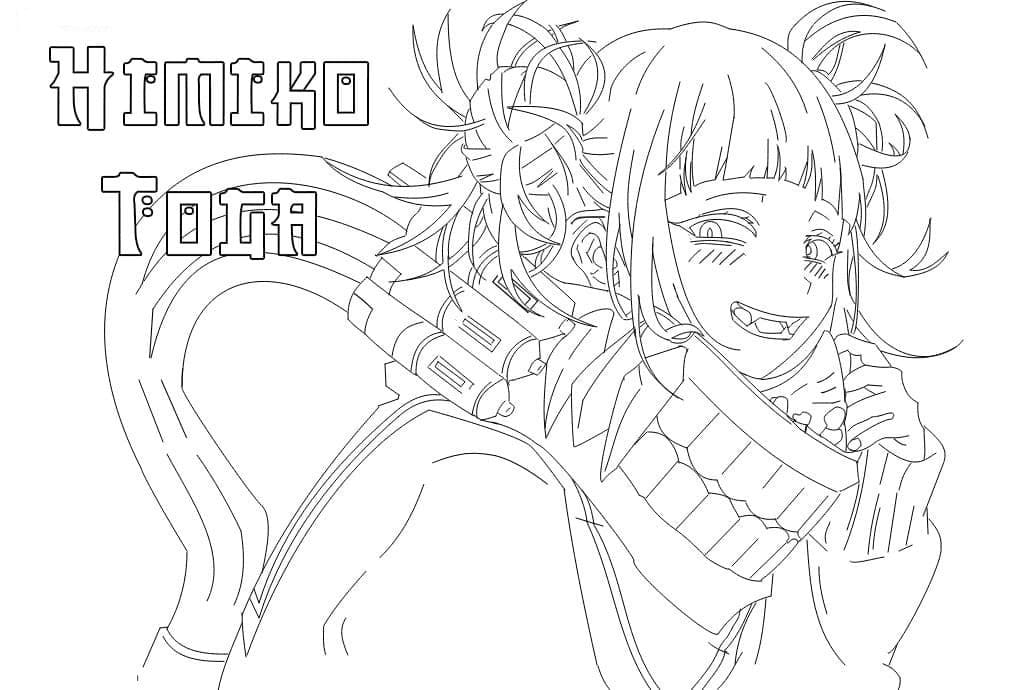 Printable Toga Himiko Coloring Pages