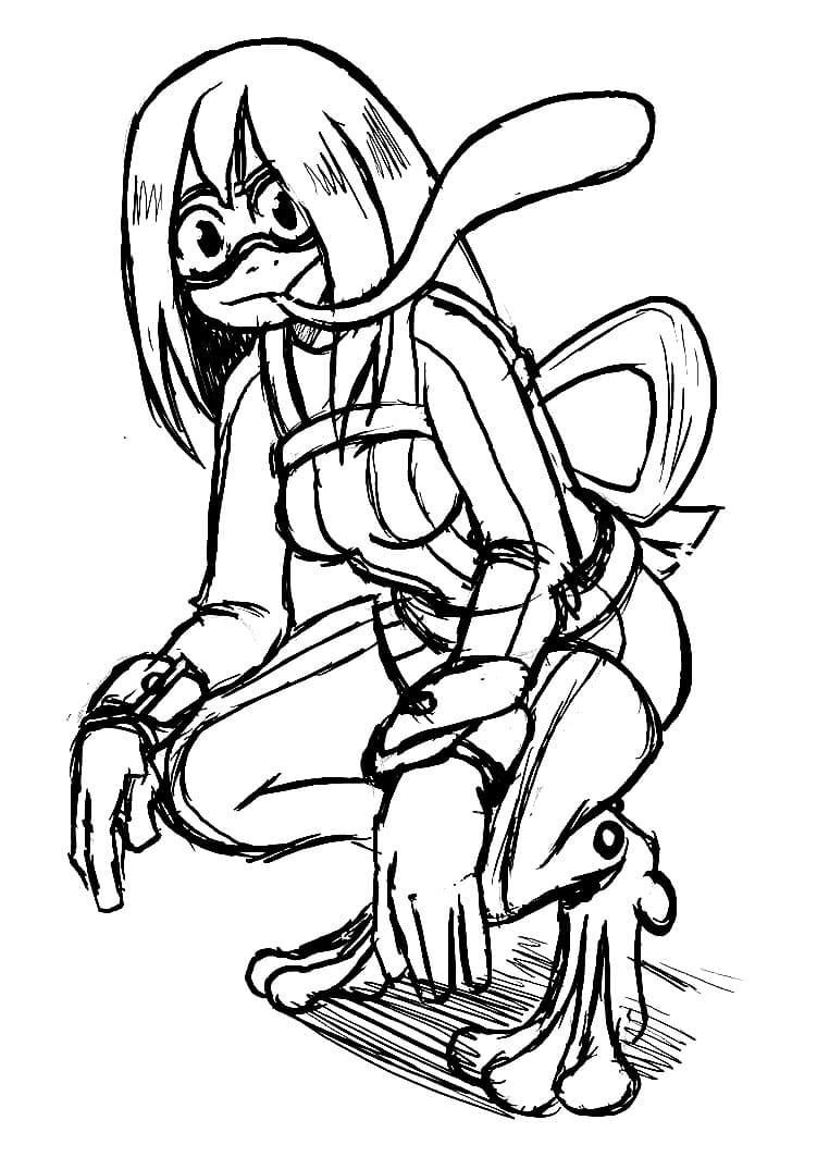 tsuyu asui sketch