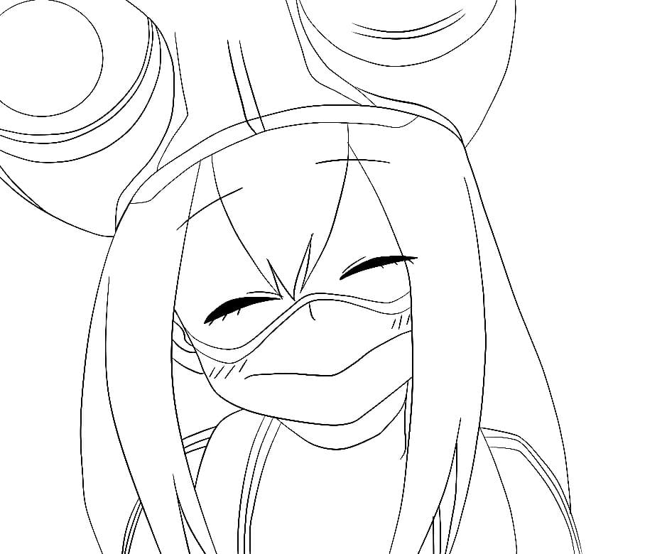 tsuyu asui smiling