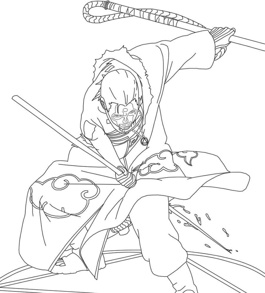 hidan fighting