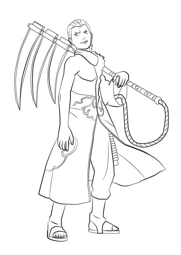 Printable Hidan Coloring Pages