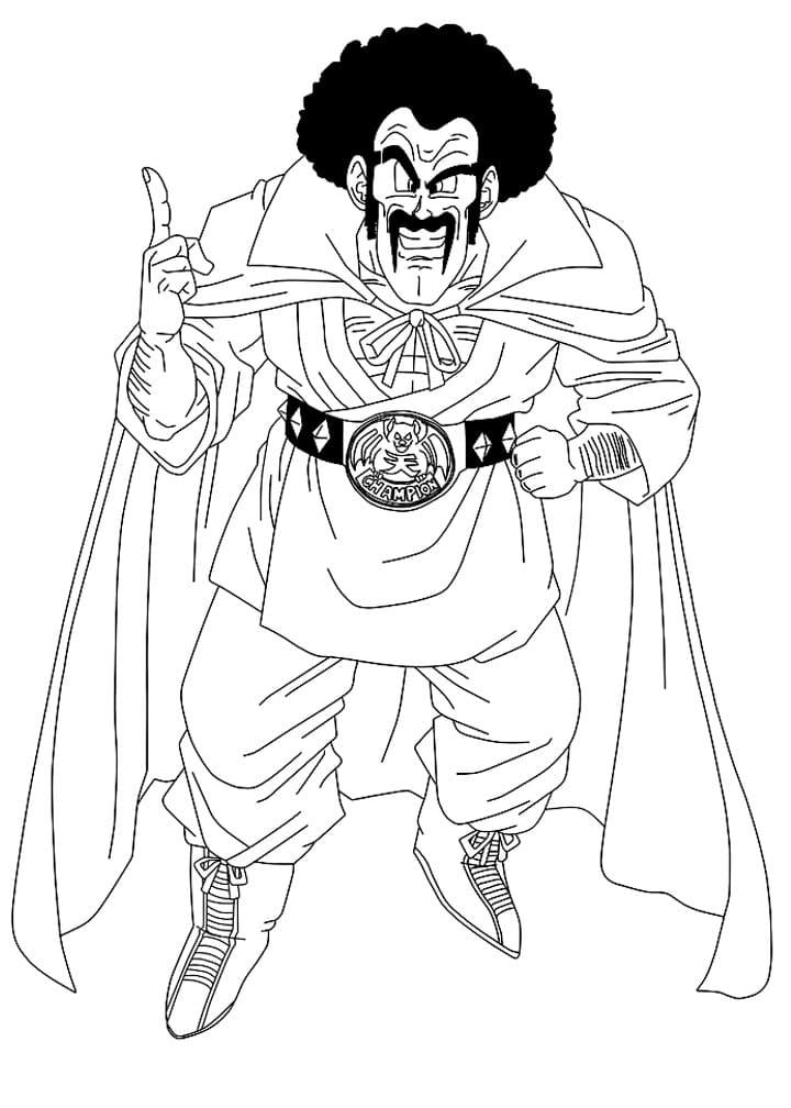 Printable Mr. Satan Coloring Pages
